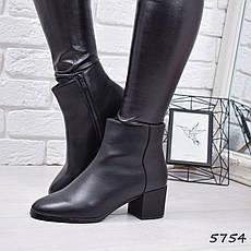 """Ботильоны женские на каблуке, черные """"Vivat"""" эко кожа, повседневная, демисезонная женская обувь, фото 3"""