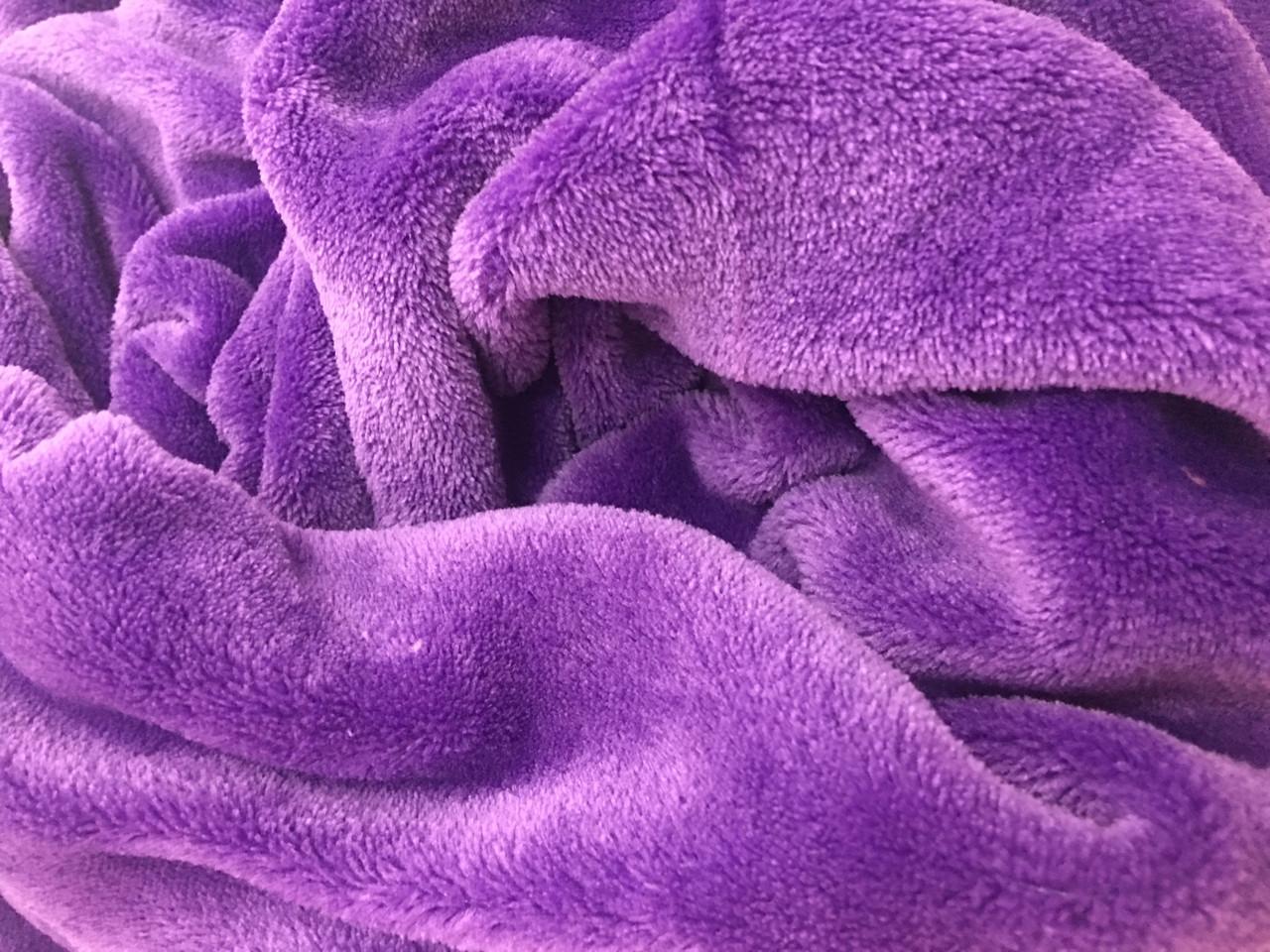 Плед 190*120, фиолетовый