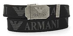 Прочный тканевый мужской ремень под джинсы с автоматической пряжкой и шириной 4 см (103393) черный
