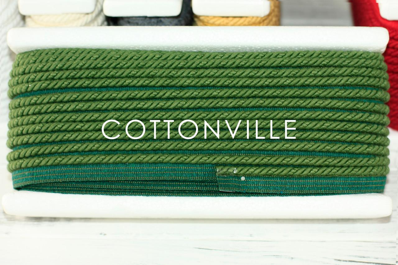 Хлопковый шнур-кант зеленый