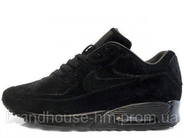 1180f8d23428 Зимние мужские кроссовки Nike Air Max 90VT FUR Black (Найк аир макс 90 вт,