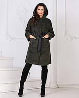 5a1806c43b1 Темно-зеленое шерстяное женское модное пальто весна осень с капюшоном.  Арт-1173