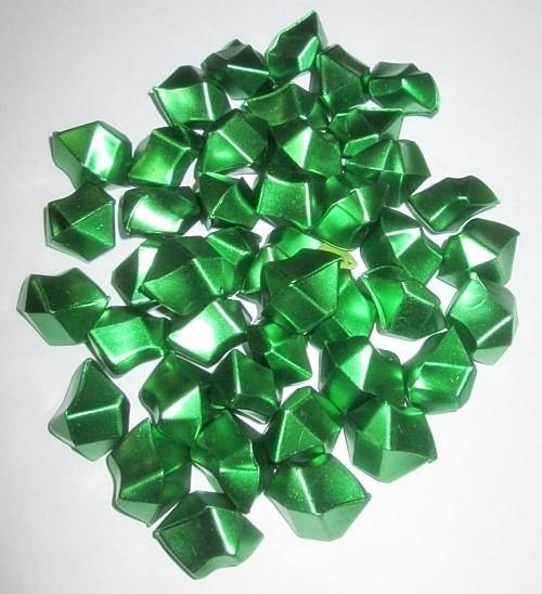 Лед искусственный окрашенный, 400 гр. зеленый металлик