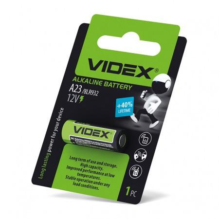 Батарейка Videx A23 \ E23A \ 8LR932 (12V) 1pcs blister