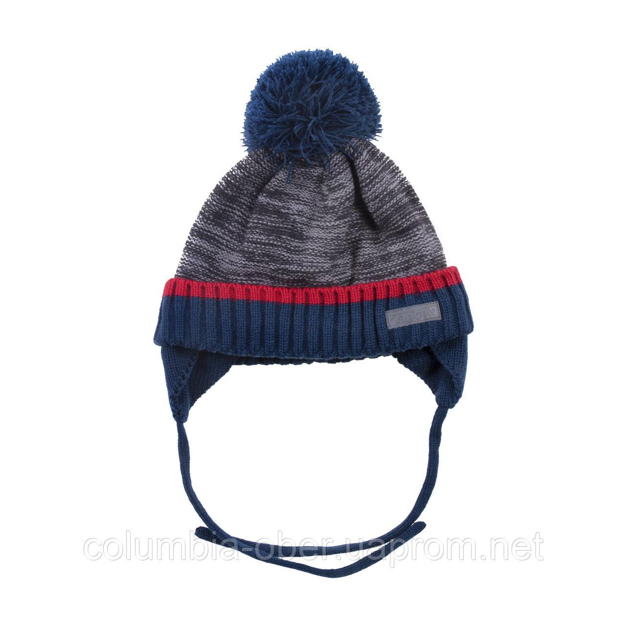 Зимняя детская шапка для мальчика Nano F18 TU 275 Deep Gray. Размеры 12/24 мес - 5/6X.