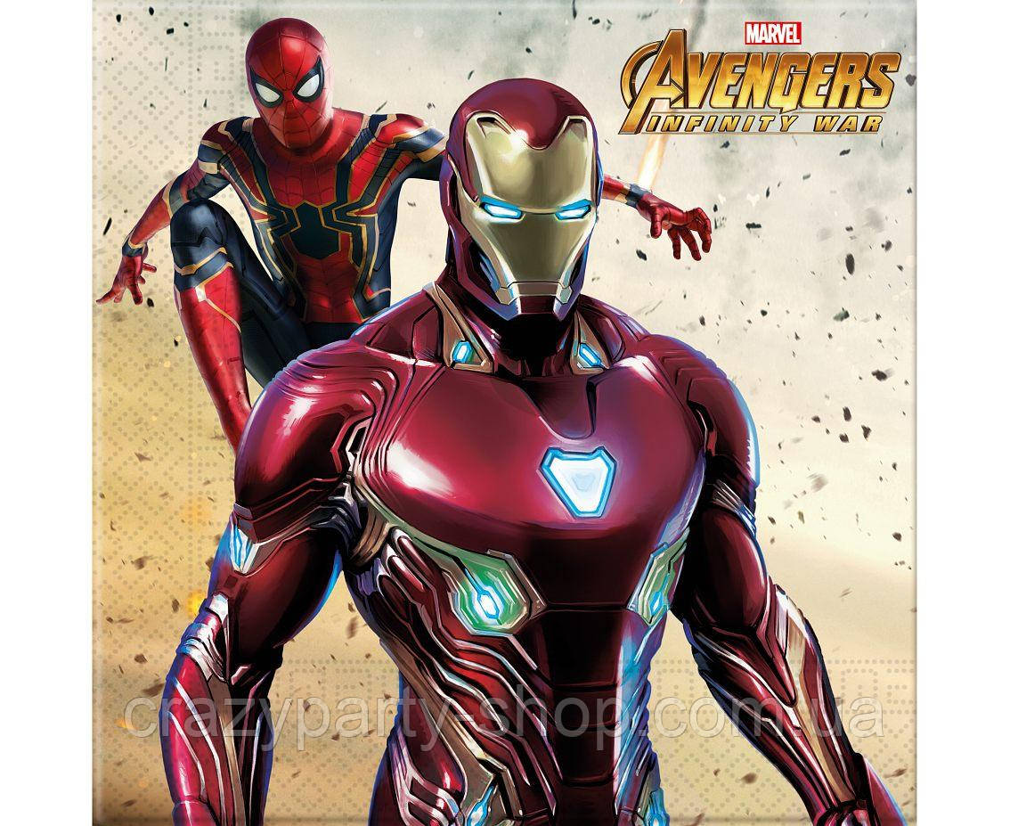 Салфетки Мстители  Avengers Infinity war лицензионные 10 шт.