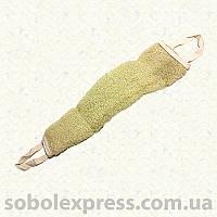 Мочалка люффа с тканевыми ручками 45 см