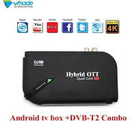 4К смарт TV приставка на Андроїд 7.1 + DVB Т2 + IPTV