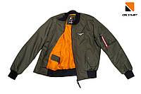 Чоловічий бомбер колір хакі МА-1 khaki від Olymp., фото 1