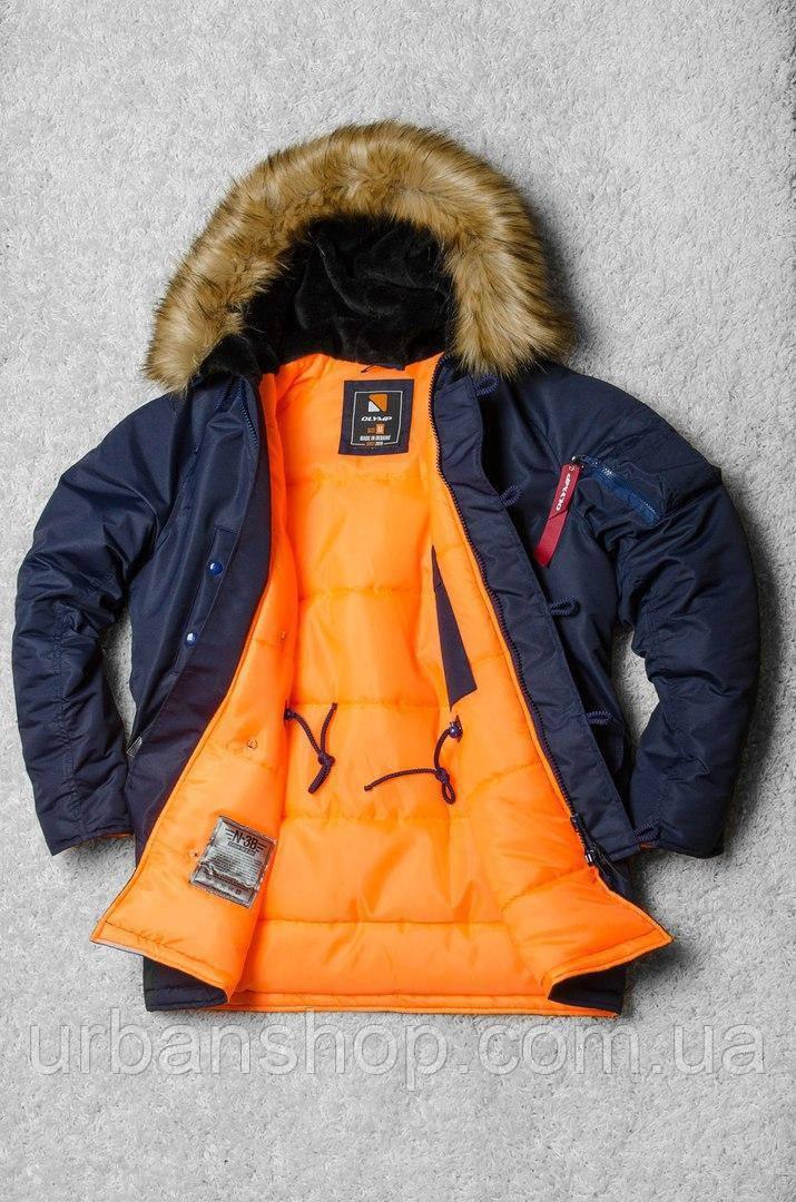 Чоловіча зимова Olymp - Аляска N-3B, Slim Fit, Color: Navy