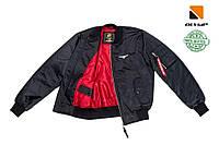 Чоловічий бомбер Olymp MA-1, 100% нейлон. Color: Black and Red. ТОП ПРОДАЖІВ !