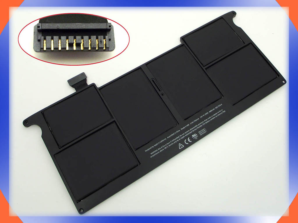 Батарея Apple A1465 (2012год) 7.3V 35Wh Black. Apple MacBook Air 11.6&