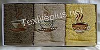Полотенца махровые кухонные - Gulcan - Coffee - 3 шт. - 40*60 - 100% хлопок - Турция - (kod1722), фото 1