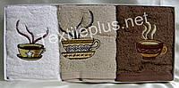 Полотенца махровые кухонные - Gulcan - Coffee - 3 шт. - 40*60 - 100% хлопок - Турция - (kod1726), фото 1