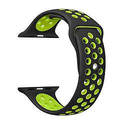 Ремешок для Apple Watch 38mm/40mm Nike Watch Band Black/Green