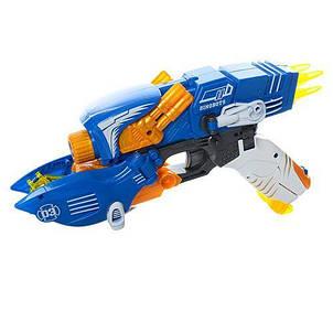 Робот трансформер динозавр+пистолет, мягкие пули-присоски 20шт, фото 2