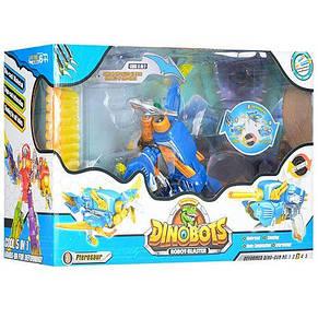 Робот трансформер динозавр+пистолет, мягкие пули-присоски 20шт, фото 3