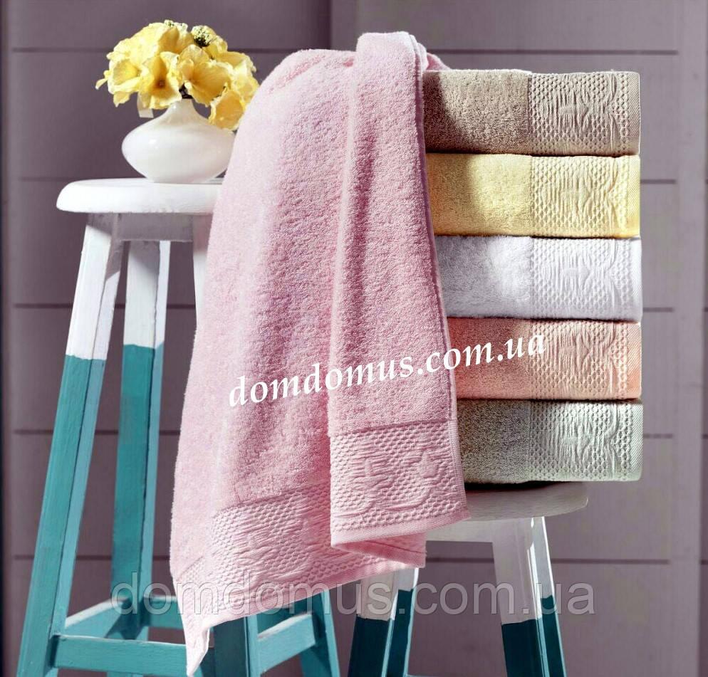 """Махровое полотенце """"Sara"""" 70*140 (трикотаж)  6 шт. упаковка Puppila, Турция"""
