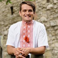 Мужская рубашка вишиванка Цветы | Чоловіча сорочка вишиванка Квіти