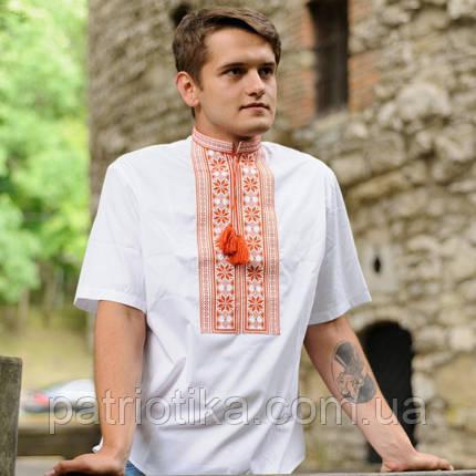 Мужская рубашка вишиванка Цветы | Чоловіча сорочка вишиванка Квіти, фото 2