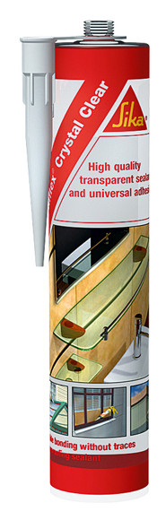 Sikaflex® Crystal Clear - Полностью прозрачный универсальный герметик и клей, 290 мл.