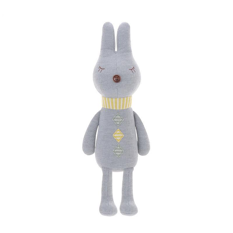 Мягкая игрушка Кролик серый, 38 см Metoys