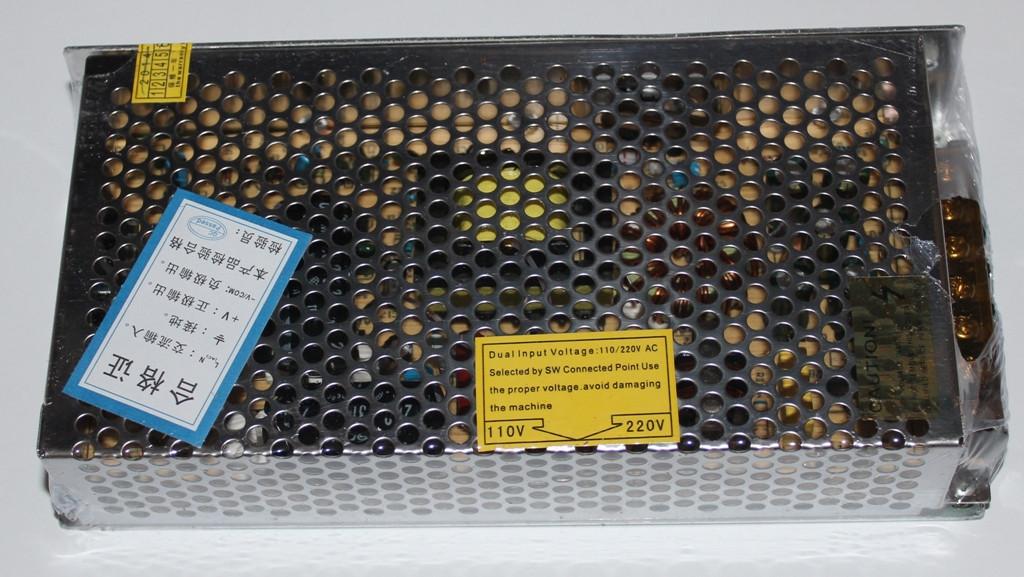 Блок питания 12V/ 15A, металлический корпус