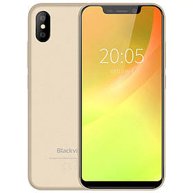 Смартфон Blackview A30 Gold 2\16Гб сканер особи + чохол + плівка