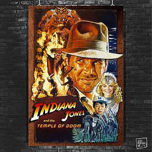 Постер Indiana Jones and the Temple of Doom, Индиана Джонс (1984). Размер 60x40см (A2). Глянцевая бумага