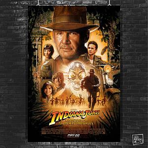Постер Indiana Jones and the Kingdom ot the Crystal Skull, Индиана Джонс. Размер 60x41см (A2). Глянцевая бумага