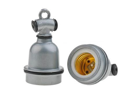 Патрон для ламп металлический, фото 2