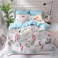 Комплект постельного белья Красные колокольчики (двуспальный-евро) Berni