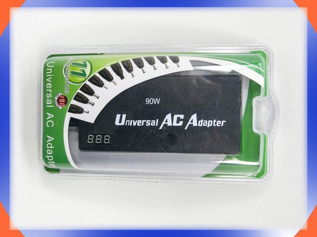 Универсальный блок питания 220V в 12-24V 90W Slim. Автовольтаж, LCD ди