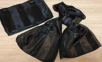 Шарфы-женские Чёрные атласные
