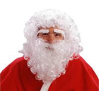 Парик, борода, брови Деда Мороза, Санта Клауса лицензионная