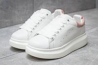 Кроссовки женские Alexander McQueen Oversized Sneakers, белые (14751),  [  36 37 38 39 40  ]