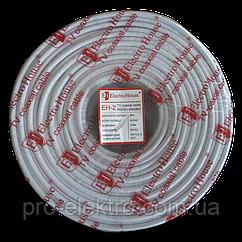 EH-2  Телевизионный (коаксиальный) кабель RG-6U 48% ССS 1,02 Медная фольга 48 медных жил ПВХ/белый