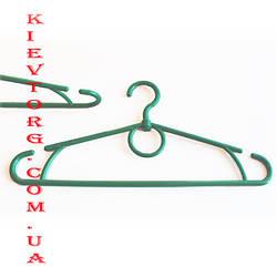 Усиленные! Зеленый металлик вешалки плечики пластиковые (зима) 42 см