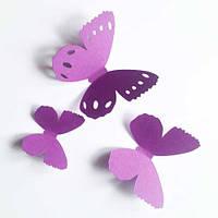 3d наклейки Набор бабочек Бантики (ПВХ наклейки стикеры декор дизайнерский картон) матовая Комплект 25 шт.