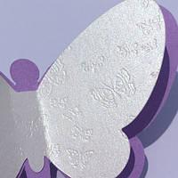 Набор декоративных бабочек 3d Сказка (двухслойные картонные скотч в комплекте) матовая Комплект 20 шт., фото 1