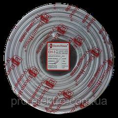 EH-3 Телевизионный (коаксиальный) кабель RG-6U 64% ССS 1,02 Медная фольга 64 медных жил ПВХ/белый