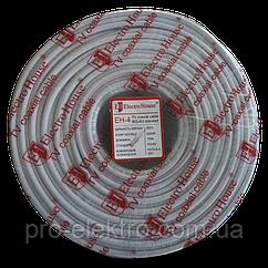 EH-4 Телевизионный (коаксиальный) кабель RG-6U 100% ССS 1,02 Медная фольга 100  медных жил ПВХ/белый