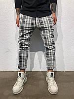 Мужские штаны в клеточку брюки