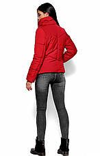 Женская зимняя короткая куртка, красная, р.42-48, фото 3