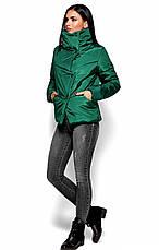 Женская зимняя короткая куртка, зеленая, р.42-48, фото 2