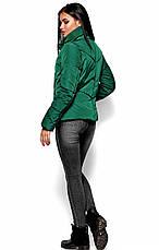 Женская зимняя короткая куртка, зеленая, р.42-48, фото 3