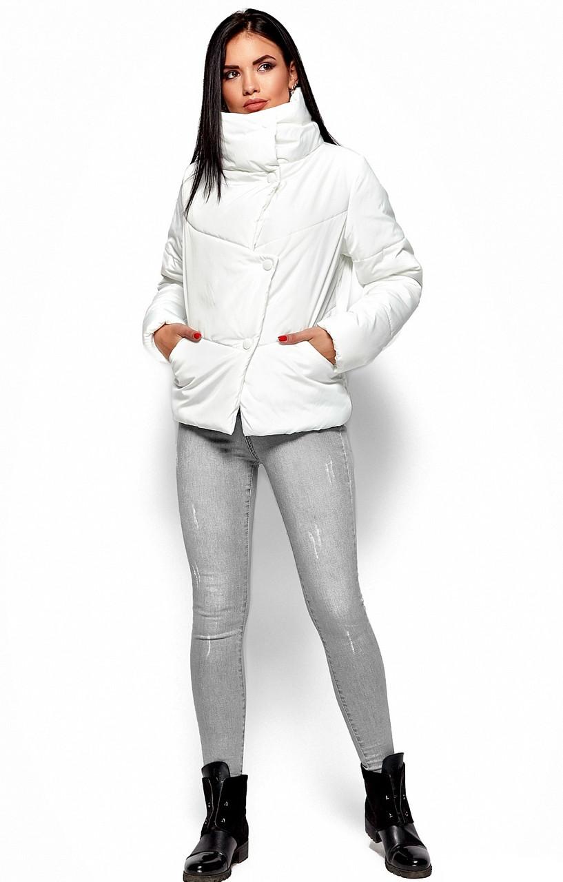 Женская зимняя короткая куртка, белая, р.42-48