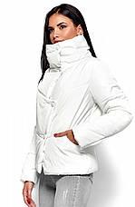 Женская зимняя короткая куртка, белая, р.42-48, фото 2