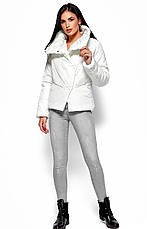 Женская зимняя короткая куртка, белая, р.42-48, фото 3
