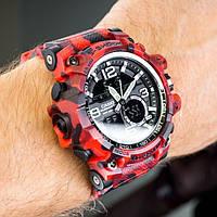 Мужские спортивные часы Casio G-Shock GWG-1000 RED WOOD копия, фото 1